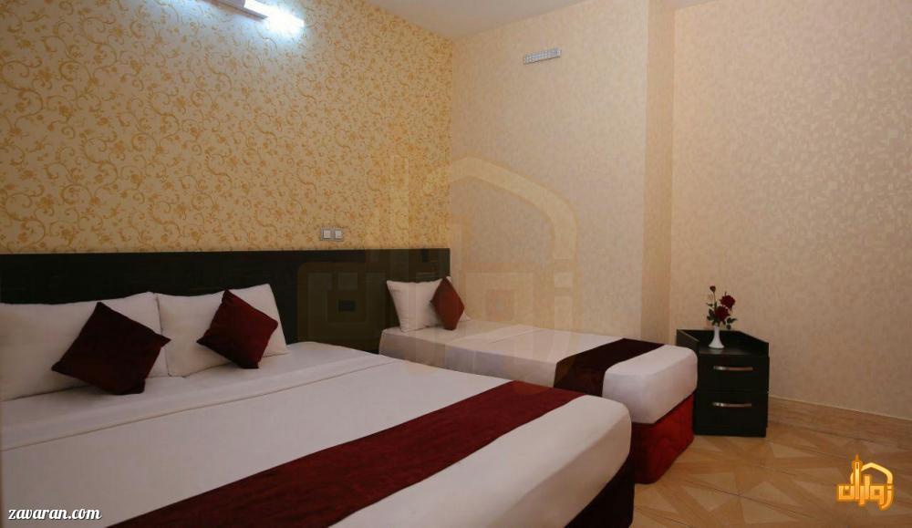 رزرو اتاق سه تخته هتل ایثار مشهد