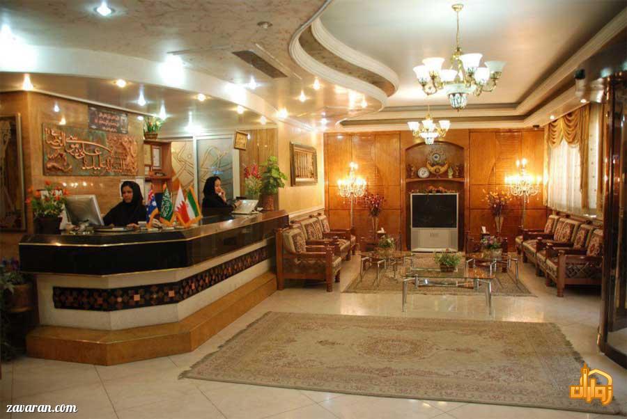پذیرش و لابی هتل آپارتمان دیانا مشهد
