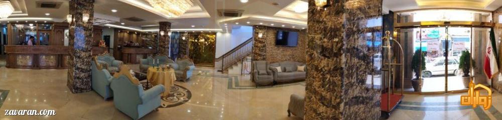 فضای داخلی هتل عقیق مشهد
