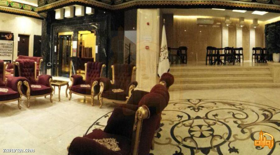 فضای داخلی هتل آپارتمان پارادایس مشهد