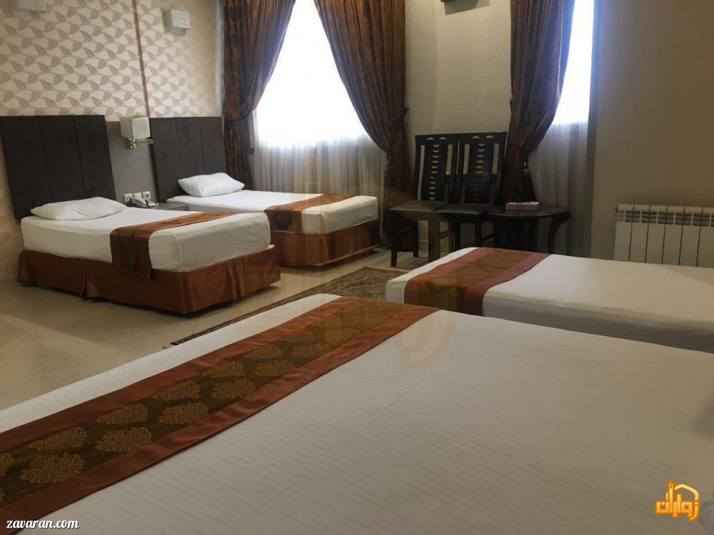 رزرو اتاق چهارتخته هتل دیبا مشهد