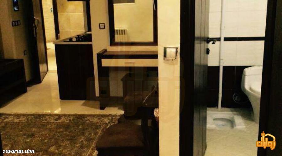 سرویس بهداشتی اتاق های هتل آپارتمان پارادایس مشهد