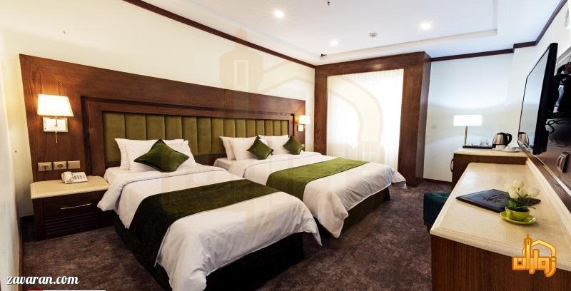 رزرو اتاق سه تخته هتل آدینا مشهد