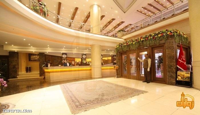 پذیرش هتل توحید نوین مشهد