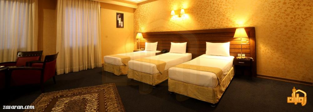 رزرو اتاق سه تخته هتل توحید نوین مشهد