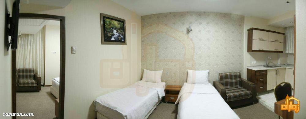 رزرو اتاق خواب دار هتل آیران مشهد