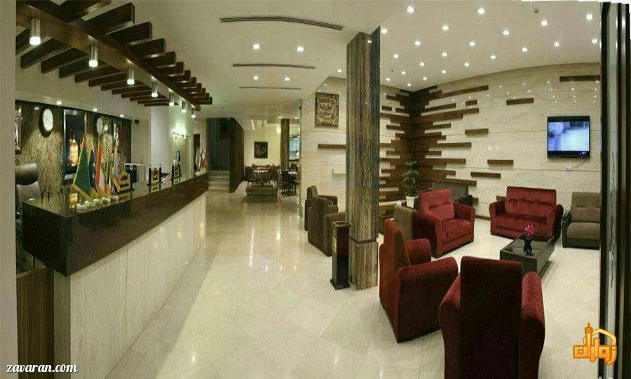 فضای داخلی هتل آیران مشهد