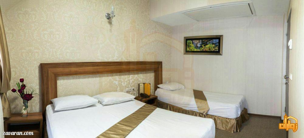 رزرو اتاق سه تخته هتل آیران مشهد