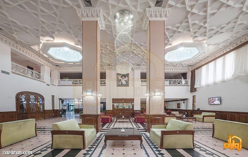 فضای داخلی هتل رضویه مشهد