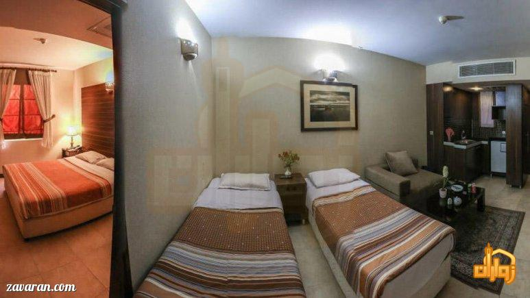 رزرو اتاق یک خوابه هتل آرامیس مشهد