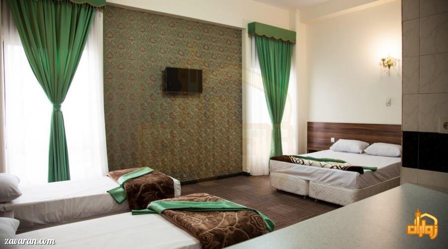رزرو اتاق چهارتخته هتل رضویه مشهد