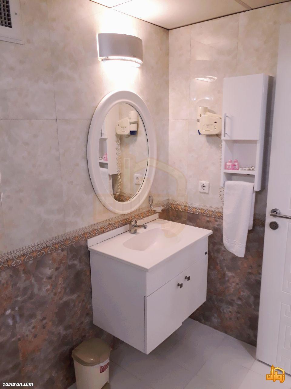 سرویس بهداشتی اتاق های هتل حریرستان مشهد