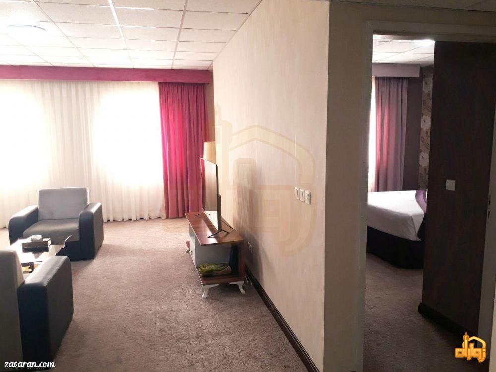 اتاق خواب های واقع در اتاق هتل حریرستان مشهد