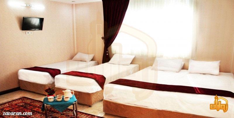 رزرو اتاق چهارتخته هتل آپارتمان شکرانه مشهد