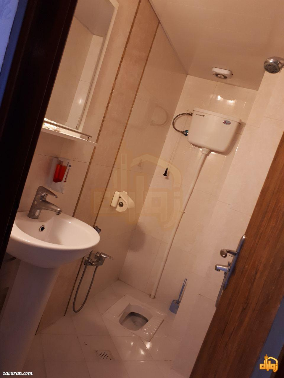 سرویس بهداشتی اتاق های هتل آپارتمان ثقلین مشهد