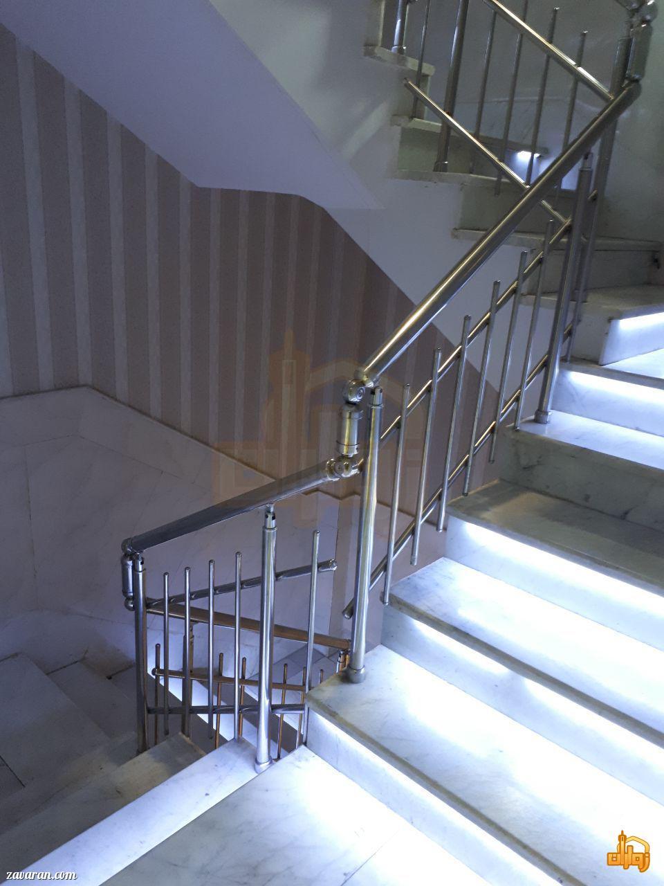 راه پله هتل آپارتمان ثقلین مشهد