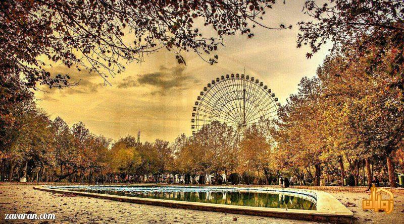 نمای شهربازی پارک ملت مشهد