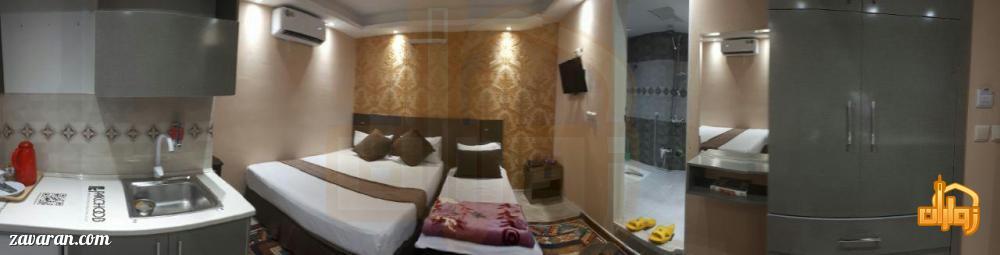 رزرو اتاق سه تخته هتل یزدان مشهد