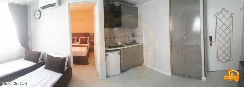 رزرو اتاق یک خوابه 4 تخته هتل یزدان مشهد