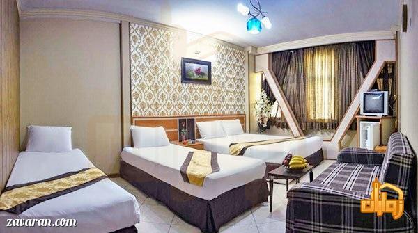 رزرو اتاق چهارتخته هتل آپارتمان پاویون مشهد
