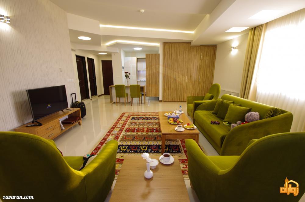 چیدمان اتاق های هتل آپارتمان حیات شرق مشهد