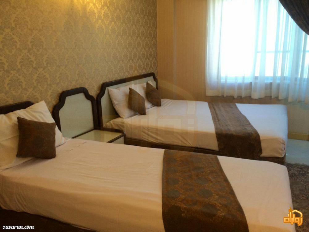 رزرو اتاق سه تخته هتل آپارتمان ترنم مشهد