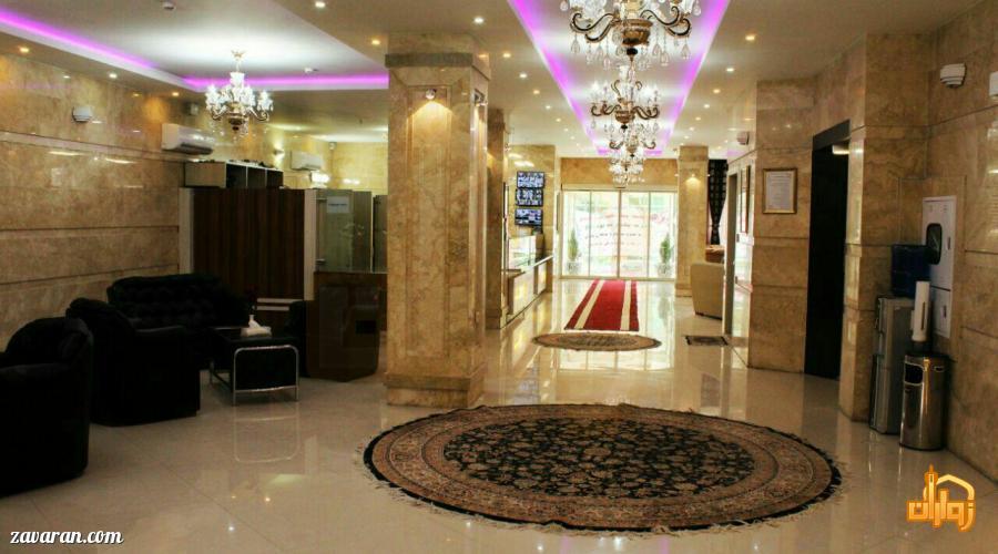 قیمت هتل آپارتمان آفرین مشهد برای نیمه شعبان98