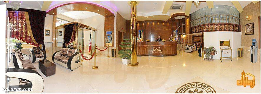 فضای داخلی هتل تاج مشهد