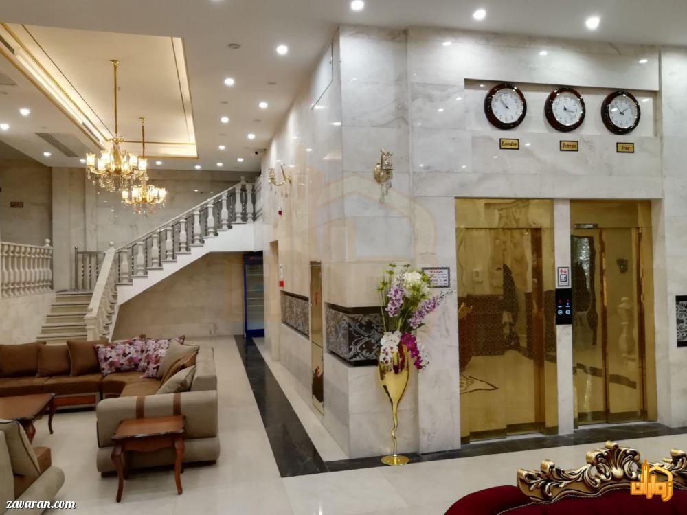 آسانسور و فضای داخلی هتل آپارتمان سلما مشهد