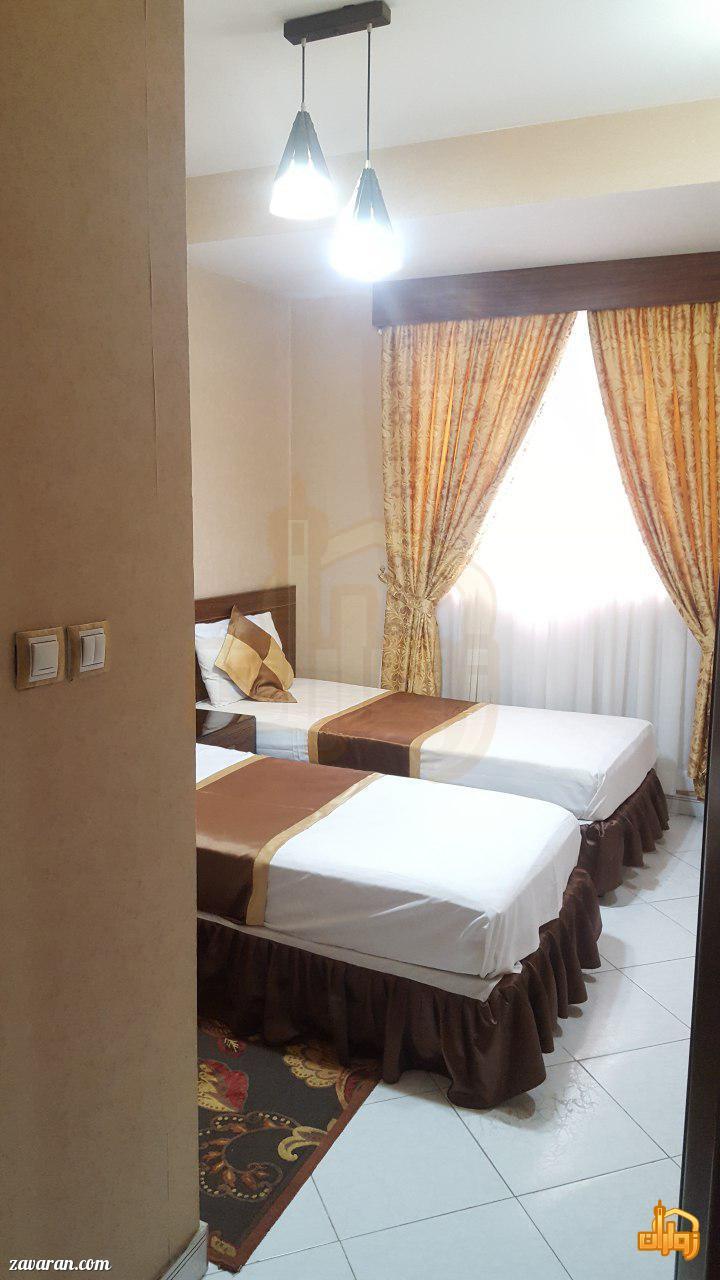 رزرو اتاق خواب دار در هتل آپارتمان لبخند مشهد