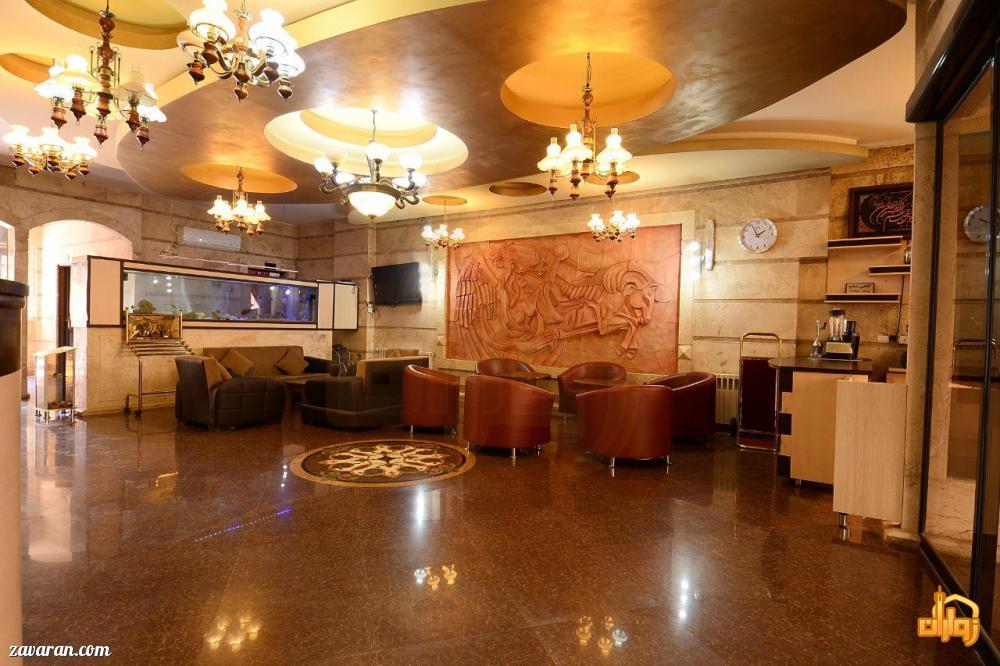 لابی و فضای داخلی هتل آپارتمان پریا مشهد