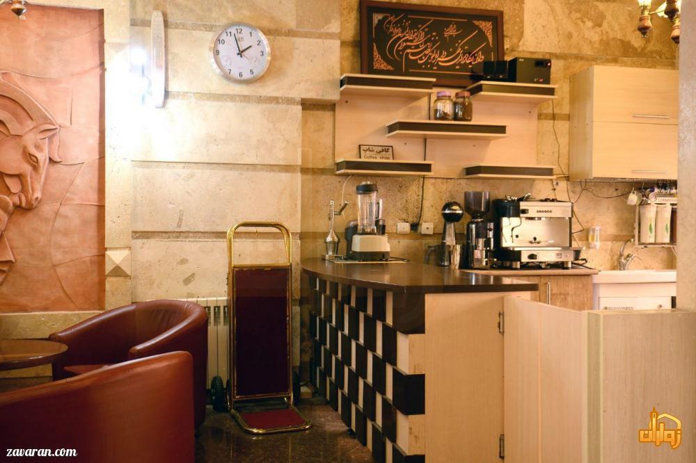 کافی شاپ هتل آپارتمان پریا مشهد
