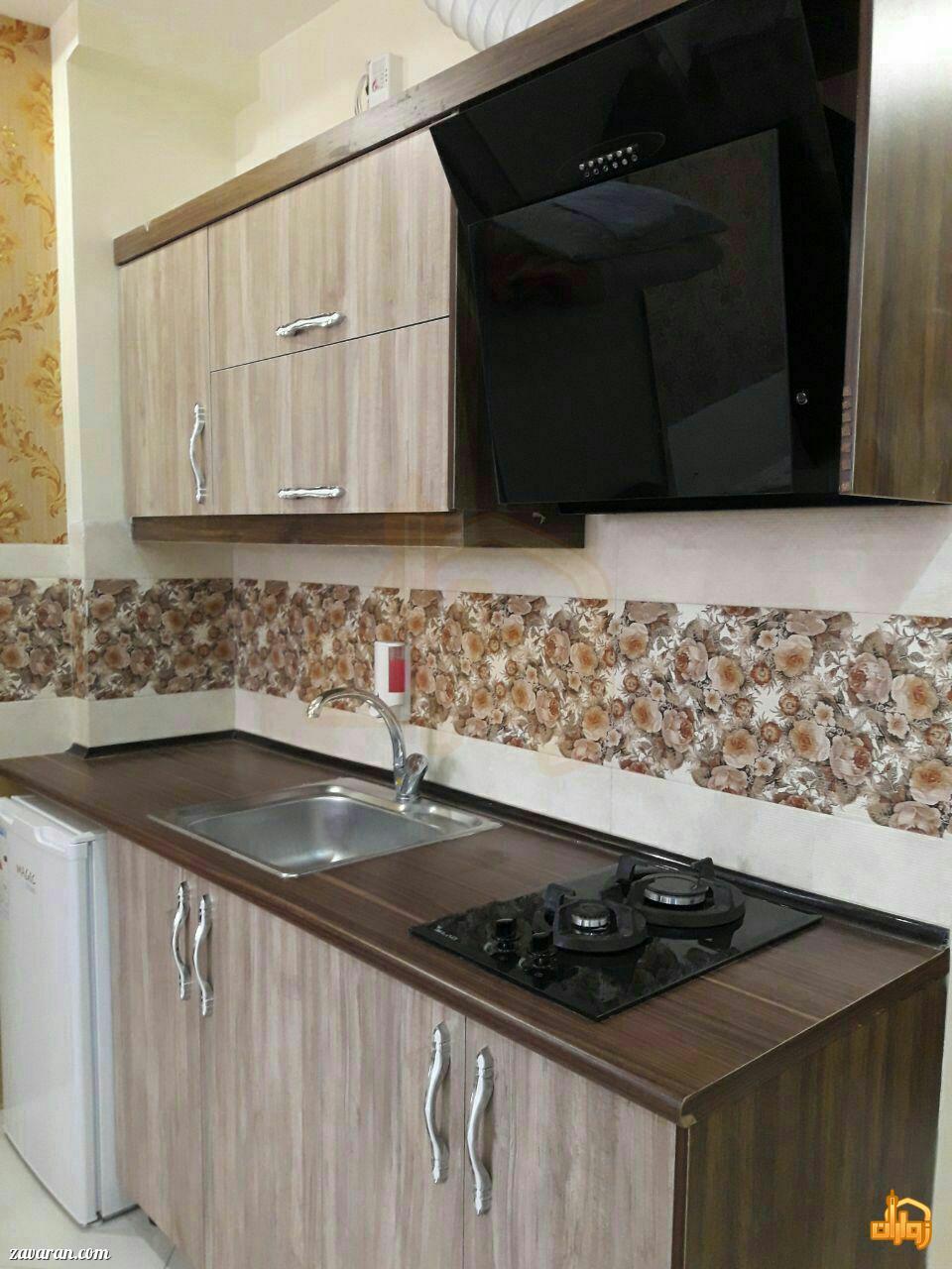 آشپزخانه اتاق هتل آپارتمان دوستان مشهد