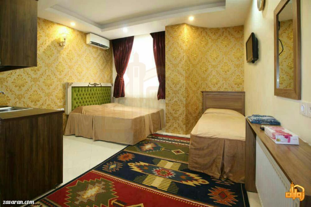 رزرو اتاق سه تخته هتل آپارتمان دوستان مشهد