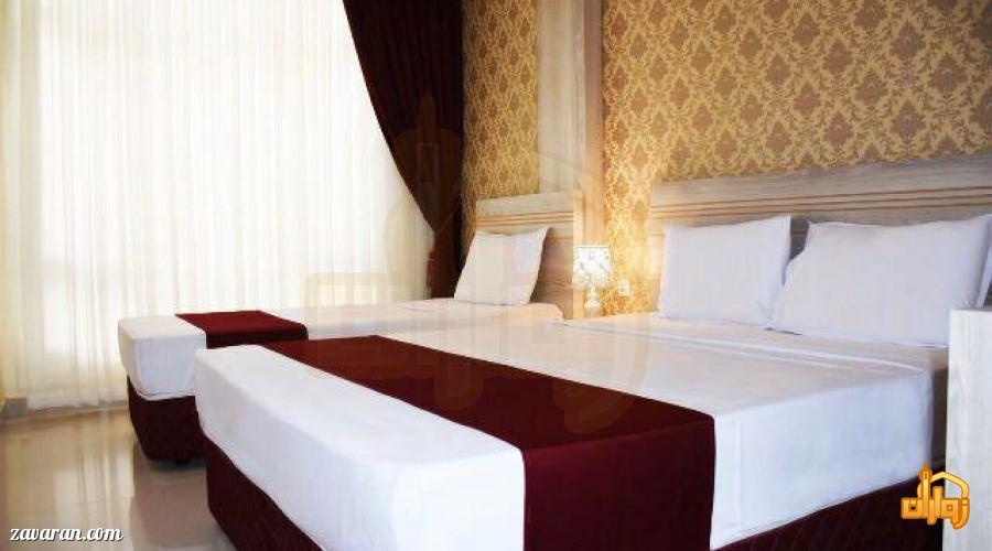 رزرو اتاق سه تخته هتل آپارتمان آرین مشهد