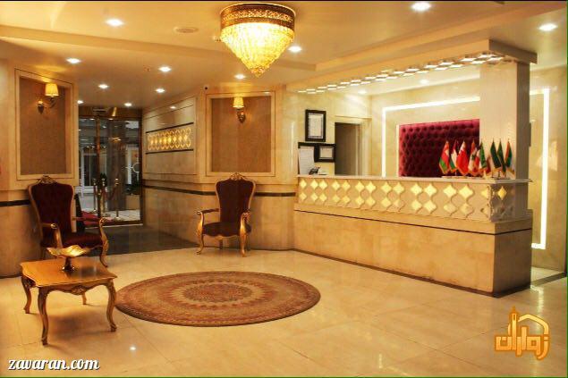 پذیرش هتل آپارتمان آرین مشهد