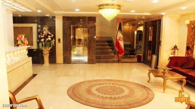 فضای داخلی هتل آپارتمان آرین مشهد