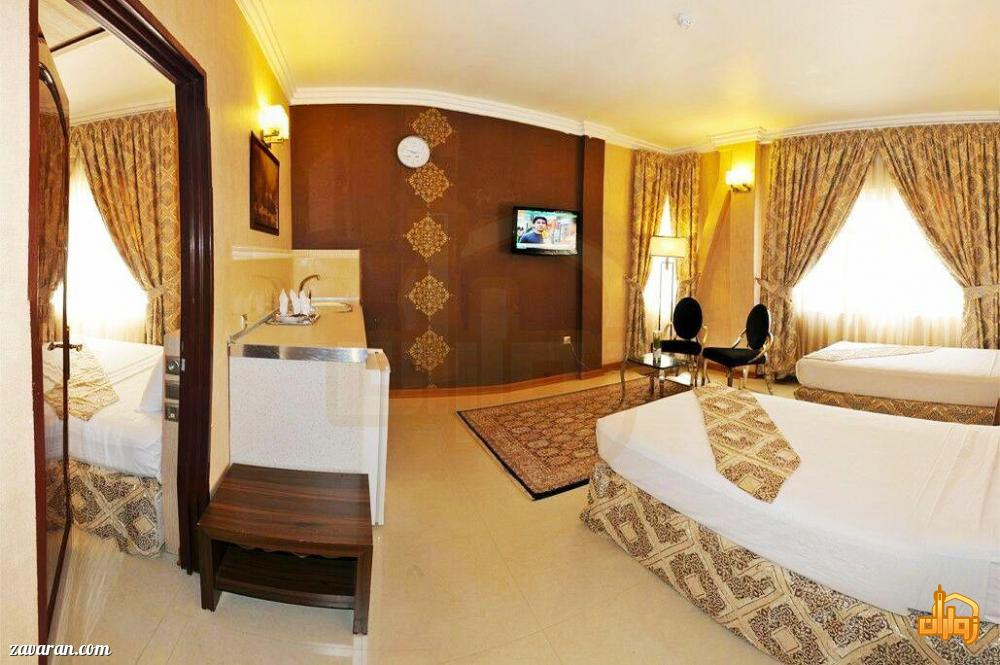 رزرو اتاق یک خوابه هتل منجی مشهد