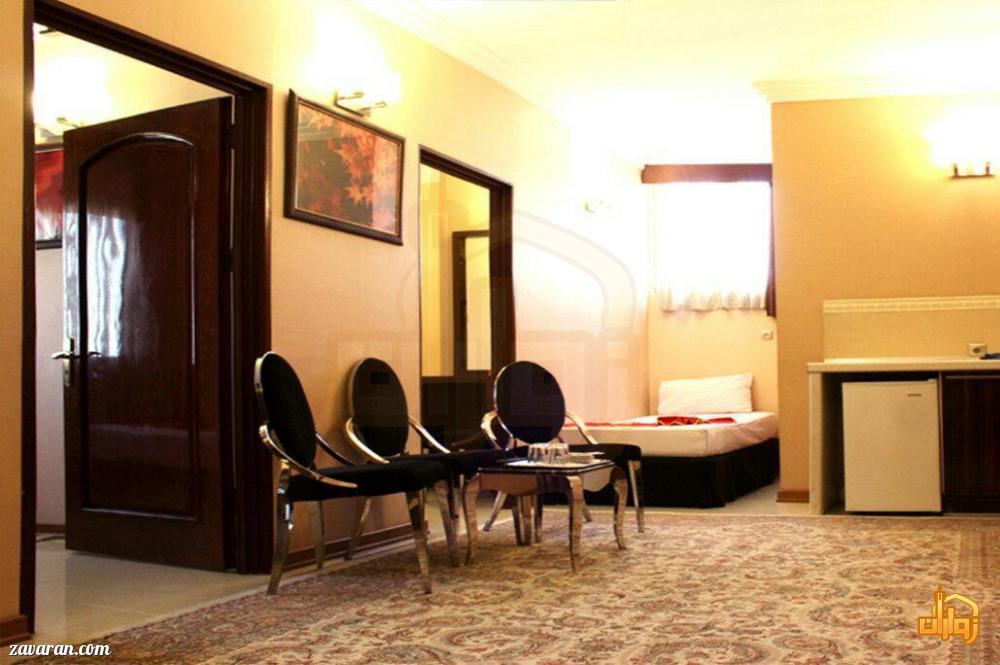 رزرو اتاق دو خوابه هتل منجی مشهد